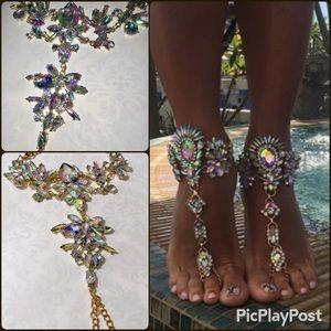 Jewelry - Boho AB Crystal Anklet bracelets barefoot jewelry
